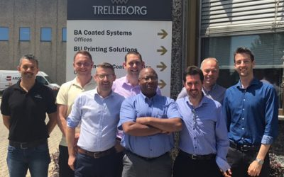 Trelleborg and Printgraph Technical Training for bfs Sales Team